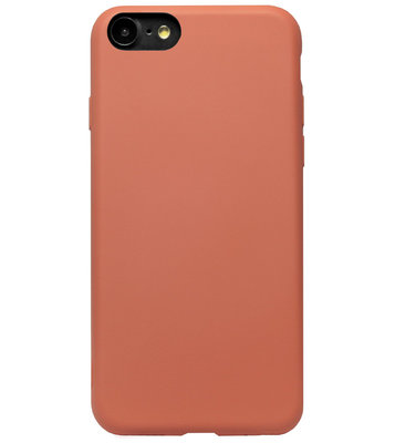 ADEL Premium Siliconen Back Cover Softcase Hoesje voor iPhone SE (2020)/ 8/ 7 - Oranje