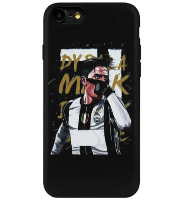 ADEL Siliconen Back Cover Softcase Hoesje voor iPhone 8/ 7 - Paulo Dybala