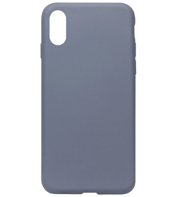 ADEL Premium Siliconen Back Cover Softcase Hoesje voor iPhone XS/ X - Lavendel Blauw Paars