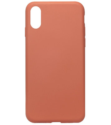 ADEL Premium Siliconen Back Cover Softcase Hoesje voor iPhone XS/ X - Oranje