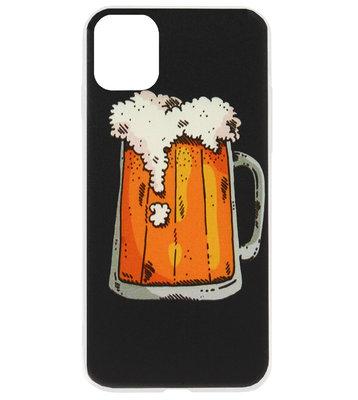 ADEL Siliconen Back Cover Softcase Hoesje voor iPhone 11 Pro - Bier Pils