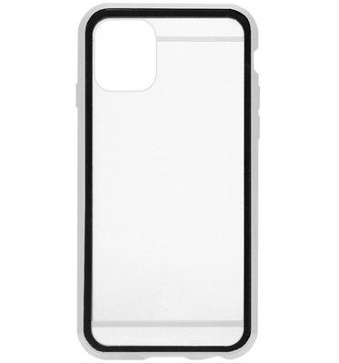 ADEL Magnetisch Kunststof 360 graden Full Body Cover Hoesje voor iPhone 11 Pro - Zilver