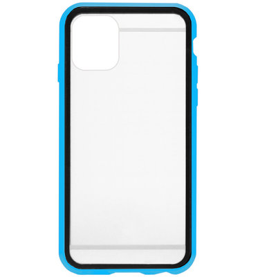ADEL Magnetisch Kunststof 360 graden Full Body Cover Hoesje voor iPhone 11 - Blauw