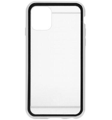 ADEL Magnetisch Kunststof 360 graden Full Body Cover Hoesje voor iPhone 11 - Zilver