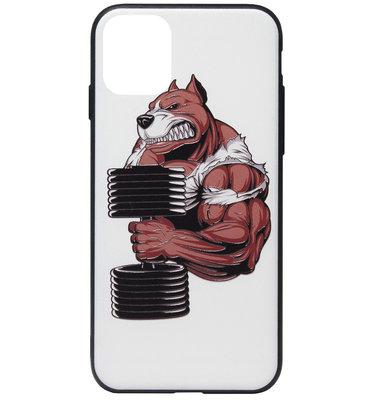 ADEL Siliconen Back Cover Softcase Hoesje voor iPhone 11 - Fitness Sport Bodybuilder Beer