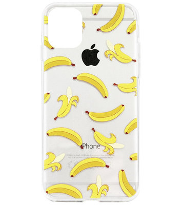 ADEL Siliconen Back Cover Softcase Hoesje voor iPhone 11 Pro Max - Bananen