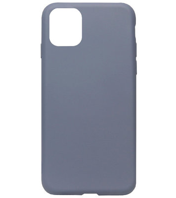 ADEL Premium Siliconen Back Cover Softcase Hoesje voor iPhone 11 Pro Max - Lavendel Blauw Paars