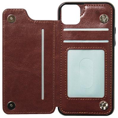 ADEL Kunstleren Back Cover Portemonnee Hoesje voor iPhone 11 Pro Max - Pasjeshouder Bruin