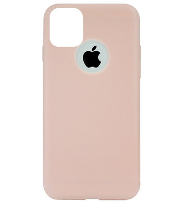 ADEL Siliconen Back Cover Softcase Hoesje voor iPhone 11 Pro Max - Lichtroze