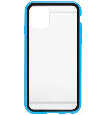 ADEL Magnetisch Kunststof 360 graden Full Body Cover Hoesje voor iPhone 11 Pro Max - Blauw