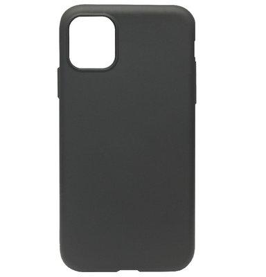 ADEL Premium Siliconen Back Cover Softcase Hoesje voor iPhone 11 Pro - Zwart