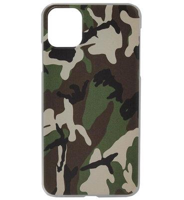 ADEL Kunststof Back Cover Hardcase Hoesje voor iPhone 11 - Camouflage