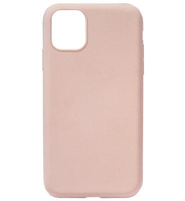 ADEL Premium Siliconen Back Cover Softcase Hoesje voor iPhone 11 - Lichtroze