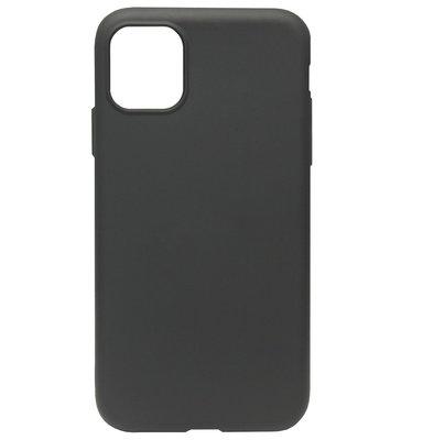 ADEL Premium Siliconen Back Cover Softcase Hoesje voor iPhone 11 - Zwart