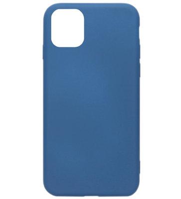 ADEL Premium Siliconen Back Cover Softcase Hoesje voor iPhone 11 Pro - Blauw