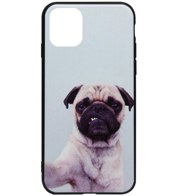 ADEL Siliconen Back Cover Softcase Hoesje voor iPhone 11 - Bulldog Hond