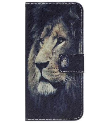 ADEL Kunstleren Book Case Portemonnee Pasjes Hoesje voor iPhone 11 - Leeuw