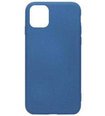 ADEL Premium Siliconen Back Cover Softcase Hoesje voor iPhone 11 Pro Max - Blauw
