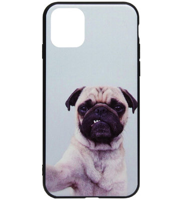 ADEL Siliconen Back Cover Softcase Hoesje voor iPhone 11 Pro Max - Bulldog Hond