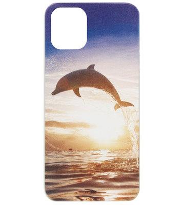 ADEL Siliconen Back Cover Softcase Hoesje voor iPhone 11 Pro Max - Dolfijn