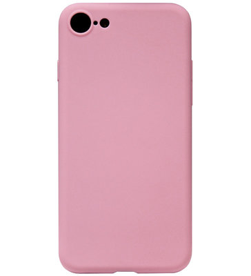 ADEL Siliconen Back Cover Softcase Hoesje voor iPhone 8/ 7 - Roze