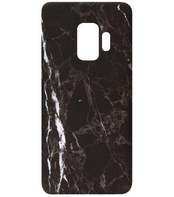 ADEL Kunststof Back Cover Hardcase Hoesje voor Samsung Galaxy S9 - Marmer Zwart