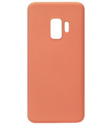 ADEL Premium Siliconen Back Cover Softcase Hoesje voor Samsung Galaxy S9 - Oranje