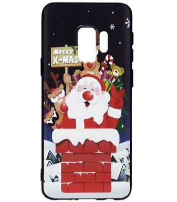 ADEL Siliconen Back Cover Softcase Hoesje voor Samsung Galaxy S9 Plus - Kerstmis Kerstman
