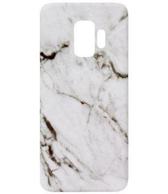 ADEL Kunststof Back Cover Hardcase Hoesje voor Samsung Galaxy S9 Plus - Marmer Wit