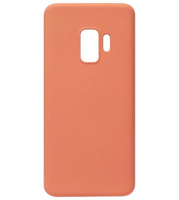 ADEL Premium Siliconen Back Cover Softcase Hoesje voor Samsung Galaxy S9 Plus - Oranje
