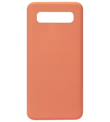 ADEL Premium Siliconen Back Cover Softcase Hoesje voor Samsung Galaxy S10 - Oranje