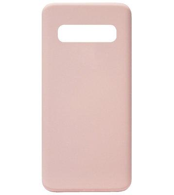 ADEL Premium Siliconen Back Cover Softcase Hoesje voor Samsung Galaxy S10 - Roze