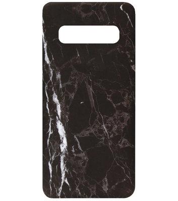 ADEL Kunststof Back Cover Hardcase Hoesje voor Samsung Galaxy S10e - Marmer Zwart