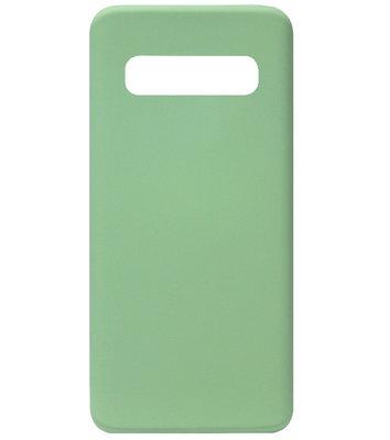 ADEL Premium Siliconen Back Cover Softcase Hoesje voor Samsung Galaxy S10e - Groen