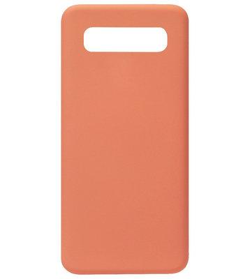 ADEL Premium Siliconen Back Cover Softcase Hoesje voor Samsung Galaxy S10e - Oranje