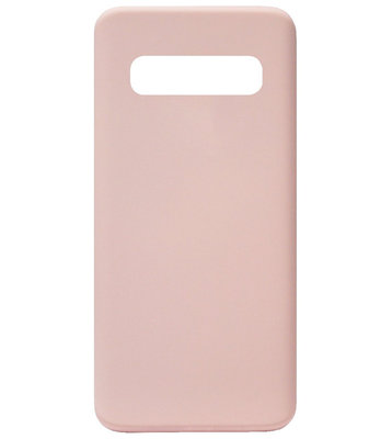 ADEL Premium Siliconen Back Cover Softcase Hoesje voor Samsung Galaxy S10 Plus - Roze