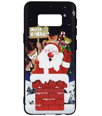 ADEL Siliconen Back Cover Softcase Hoesje voor Samsung Galaxy S8 Plus - Kerstmis Kerstman