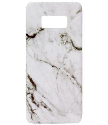 ADEL Kunststof Back Cover Hardcase Hoesje voor Samsung Galaxy S8 Plus - Marmer Wit