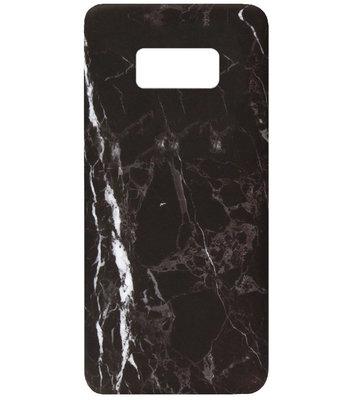 ADEL Kunststof Back Cover Hardcase Hoesje voor Samsung Galaxy S8 Plus - Marmer Zwart