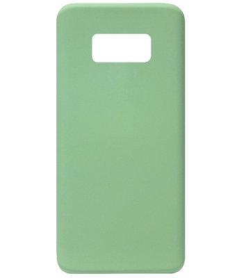 ADEL Premium Siliconen Back Cover Softcase Hoesje voor Samsung Galaxy S8 Plus - Groen