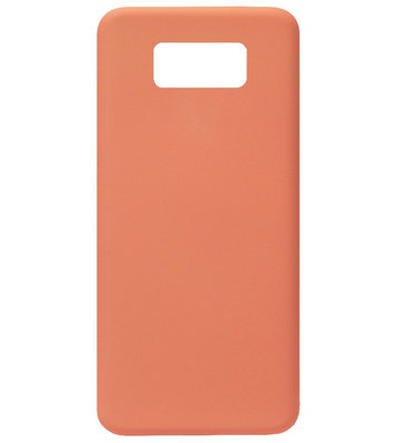 ADEL Premium Siliconen Back Cover Softcase Hoesje voor Samsung Galaxy S8 Plus - Oranje