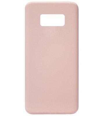 ADEL Premium Siliconen Back Cover Softcase Hoesje voor Samsung Galaxy S8 Plus - Roze