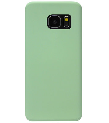 ADEL Premium Siliconen Back Cover Softcase Hoesje voor Samsung Galaxy S7 Edge - Groen