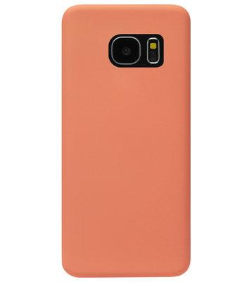 ADEL Premium Siliconen Back Cover Softcase Hoesje voor Samsung Galaxy S7 Edge - Oranje