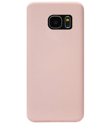 ADEL Premium Siliconen Back Cover Softcase Hoesje voor Samsung Galaxy S7 Edge - Roze
