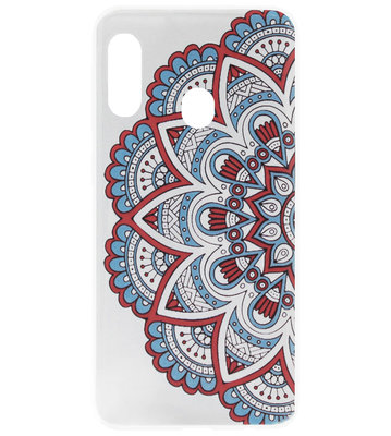 ADEL Siliconen Back Cover Softcase Hoesje voor Samsung Galaxy A20/ A30 - Mandala Bloemen