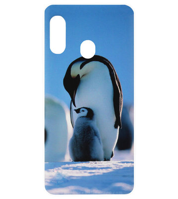 ADEL Kunststof Back Cover Hardcase Hoesje voor Samsung Galaxy A20/ A30 - Pinguin