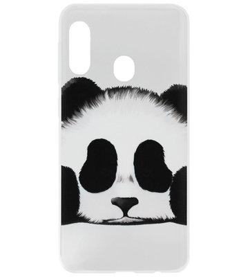 ADEL Siliconen Back Cover Softcase Hoesje voor Samsung Galaxy A40 - Panda