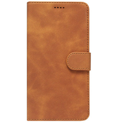 ADEL Kunstleren Book Case Portemonnee Pasjes Hoesje voor Samsung Galaxy A40 - Lichtbruin
