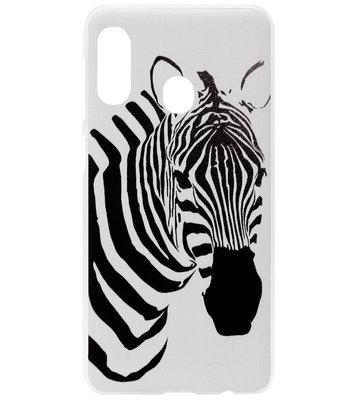 ADEL Kunststof Back Cover Hardcase Hoesje voor Samsung Galaxy A40 - Zebra